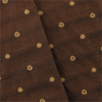 *3 1/2 YD PC - Amber Brown Polka Dots Decorating Fabric