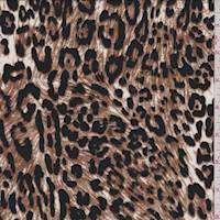 *3 YD PC--White/Brown Jaguar Print Challis