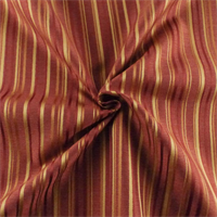 *5 1/2 YD PC--Garnet Red Twill Stripe Home Decorating Fabric