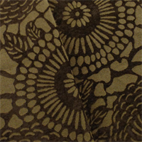 *4 1/2 YD PC - Mocha Brown Floral Chenille Jacquard Home Decorating Fabric
