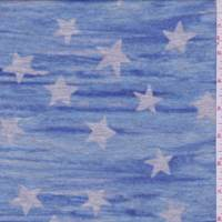 *3 7/8 YD PC--Spa Blue/Grey Star French Terry Knit