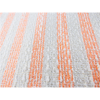 *2 3/8 YD PC--Orange/White Sparkle Cotton Blend Slub Stripe Woven