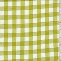 Avocado/White Check Linen
