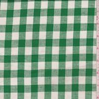 Kelly/White Check Linen