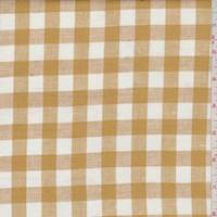 Butternut/White Check Linen