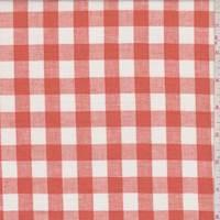 Clementine/White Check Linen