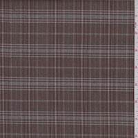 Carob Brown Plaid Flannel Suiting