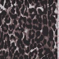 Dark Cocoa/Black Cheetah Print Stretch Twill