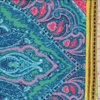 Aqua/Turquoise/Pink Morrocan Crepe