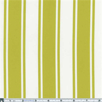 *1 1/8 YD PC--Lime Green/White Stripe Decor Cotton Twill