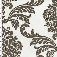ce151645ad Brown/White Morgan Reanna Print Velveteen Performance Fabric