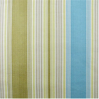 *7 YD PC - Blue/Green Waverly Stripe Home Decorating Fabric