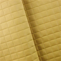 *3 YD PC - Mustard Yellow Quilted Grid Home Decorating Fabric