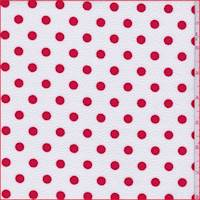 *3 3/8 YD PC--White/Crimson Polka Dot Textured Liverpool Knit