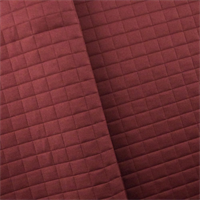 *2 YD PC - Berry Red Quilted Grid Home Decorating Fabric