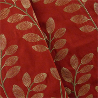 *7 YD PC--Scarlett Red Leaf Embroidered Home Decorating Fabric