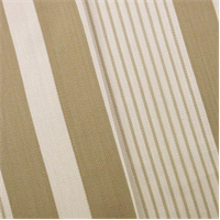 *7 YD PC - Cream/Brown Herringbone Stripe Home Decorating Fabric
