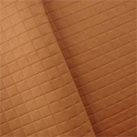 *1 1/2 YD PC - Squash Orange Quilted Grid Home Decorating Fabric