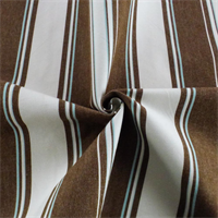 *4 YD PC - Brown/Multi Stripe Home Decorating Fabric
