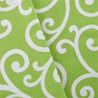 *5 YD PC - Green/White Covington Dazzle Print Decorating Fabric