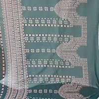 *3 1/2 YD PC--Green Print Silk Chiffon