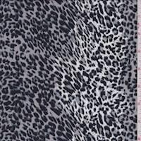 Taupe Grey Mini Cheetah Rayon Challis