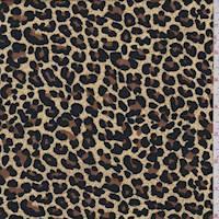 Golden Beige Cheetah Rayon Challis