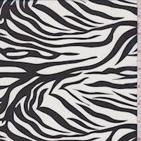 White/Black Zebra Stripe Chiffon