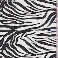 White/Black Zebra Stripe Chiffon