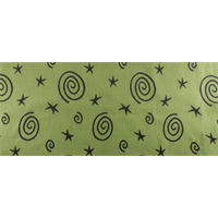 *1 YD PC--Citrus Green/Black J. R. Scott Star Swirl Upholstery Fabric