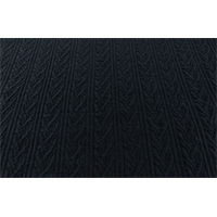 *2 1/2 YD PC--Coal Black Wool Blend Woven Cable Jacketing