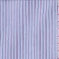 Pale Blue Triple Stripe Cotton Shirting