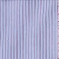 Pale Blue Triple Stripe Cotton Shirting