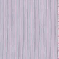 Stone Grey Multi Stripe Cotton Shirting