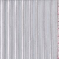 White/Pale Grey Stripe Cotton Shirting
