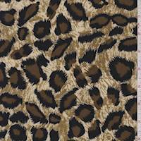Beige/Brown Cheetah Print ITY Jersey Knit