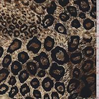 Beige/Nutmeg Animal Print ITY Jersey Knit