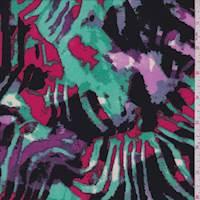 Multi Zebra Print ITY Jersey Knit
