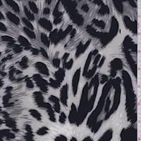 Pearl/Grey Leopard Print ITY Jersey Knit