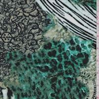 Jade Paisley/Animal Print ITY Jersey Knit