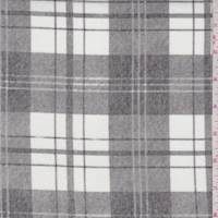 White/Grey Plaid Cotton Velveteen