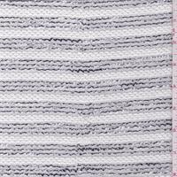 *2 YD PC--White/Black Stripe Sweater Knit