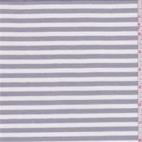 *4 YD PC--Sterling Grey/White Stripe Jersey Knit