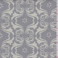 *1 YD PC--Dove Grey/Cream Cipriani Print Canvas
