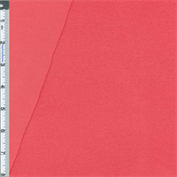 *2 1/8 YD PC--Hot Coral Baby French Terry Jersey Knit