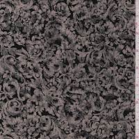 Black/Tan Baroque Floral Slinky Knit