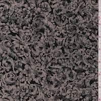 Black/Tan Baroque Floral Slinky Knit