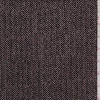 Black/Tan Herringbone Slinky Knit