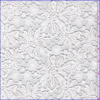 White Floral Guipure Lace
