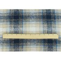 *2 1/4 YD PC--Natural Beige/Navy/Multi Brushed Plaid Coating